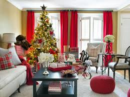 Living Room Decorations For Christmas Image 3 Christmas Home Tour Red White Decorating Ideas