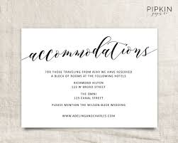 Hotel Accommodations Cards Wedding Invitations Hotel Accommodation Cards Ac Modation Card