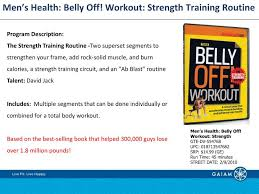 ppt men s health belly off workout