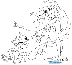 Small Picture Ariel Princess Coloring Pages Latest Unique Belle Coloring Page