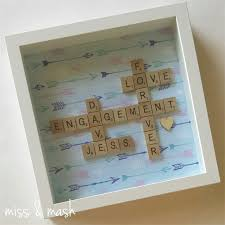 custom made wedding engagement name frame personalised scrabble art gift present miss mash madeit com au