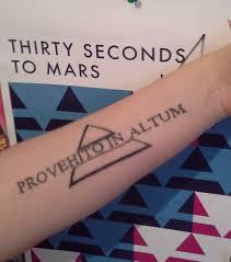 Provehito In Altum 30 Seconds To Mars Tattoos Tattoo Quotes