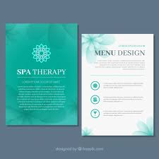 Product Price List Flyer Design Template Free Download Spa Center