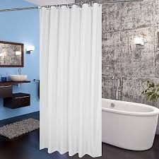 white fabric shower curtain liner 72 x78 extra long w hooks mildew resistant