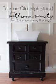 nightstand bathroom vanity vessel sink