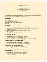 Resume Example Of Simple Resume