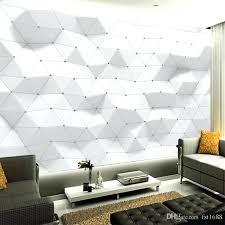large wall decor white geometric waves modern customized wallpaper art poster bedroom living room large wall large wall decor