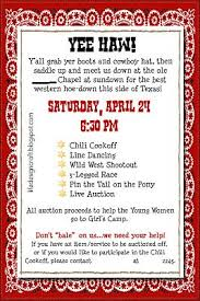 Fundraiser Poster Ideas School Fundraising Yee Haw Day Invitation Sounds Like A Fun