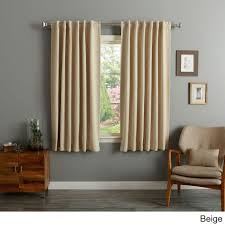 Aurora Home Solid Insulated Thermal 63-inch Blackout Curtain Panel Pair -  Free Shipping On Orders Over $45 - Overstock.com - 11109716