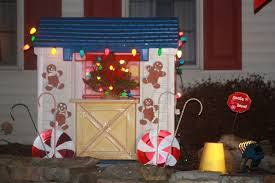 Gingerbread Outdoor Lights Holiday Decorating For The Little Tikes Playhouse