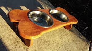 introduction wooden dog bowl table for spot