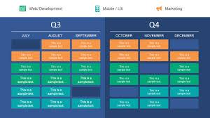 Quarter Roadmap Plan Powerpoint Template