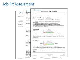job fit hiring assessment coaching report job fit