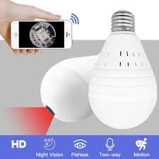 Oloey Bulb Lamp Wireless Ip Camera Wifi 960p Panoramic Fisheye Home