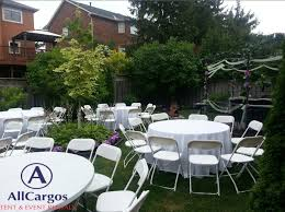 60 inch round table round plastic folding table al toronto mississauga markham white chairs tables al in backyard