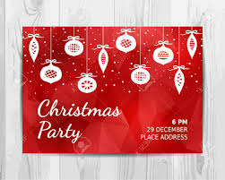 Christmas Invitation Card Christmas Party Invitation Card Red Christmas Party Flyer Vector