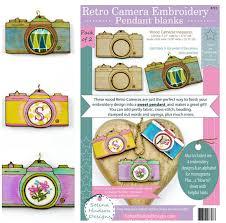 frame cross stitch craft supply jewelry 2 retro pendant embroidery