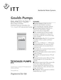 Goulds Well Pump Sizing Chart Goulds Pumps J And J Pumps Manualzz Com