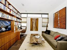 office living room ideas. Living Room Home Office Combination Glass Curtain Walls Sectional Carpet Tile Steel Chrome Chandelier Brown Plywood Ideas