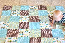 Baby Quilt Patterns Enchanting Simple Baby Quilt Tutorial