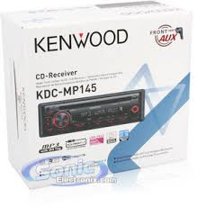 kenwood kdc mp145 cd mp3 car stereo w aux input cable product kenwood kdc mp145 w aux input cable