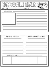 Template Definition Microsoft Word Newspaper For Kids Blank Fit ...