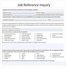 Refrence Template A Job Reference Template Evoo Tk