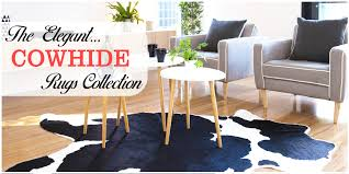 cowhide rugs give your home an authentic rustic look