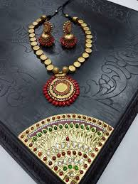 Funky Necklace Designs Pin By Spandana Reddy Sappidi On Terracotta Jewellery