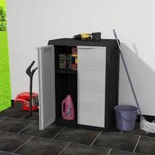 vidaxl garden storage cabinet with 1