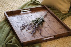 Wooden Trays To Decorate large wooden tray for coffee table thewkndedit 13