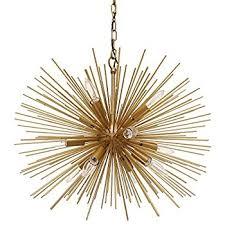 gold sputnik chandelier. EMME Starburst 12 Light Brushed Gold Sputnik 24\ Chandelier G