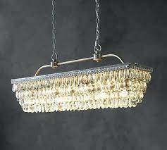 crystal drop chandelier pottery barn rectangular new in modern raindrop lighting crystal drop chandelier