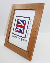 antique pine distressed wood frame with glass