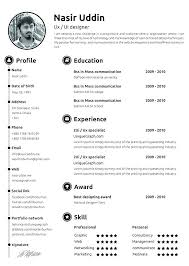 Free Resume Templates For Word 2010 Mesmerizing Editable Resume Template Popular Nice Templates Awesome Free Word
