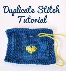 How To Do Duplicate Stitch Tutorial With Free Heart Chart