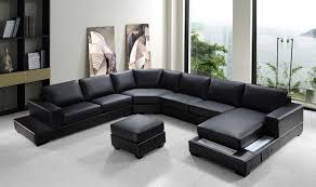 Exellent Black Sectional Couches Ritz Modern Leather P And Innovation Design