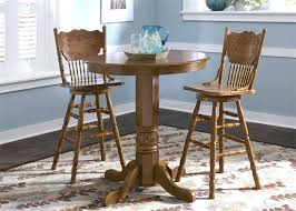 30 inch table round pub table 3 piece dining set with inch press back pertaining to