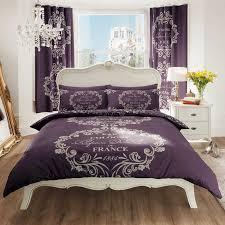 gaveno cavailia script paris duvet cover set purple