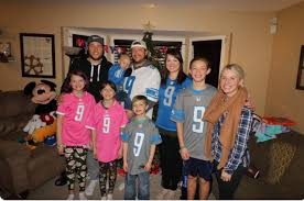 And his wife blames the nfl. Matthew Stafford And His Wife Are Doing Some Really Cool Things For Families In Need Mlive Com