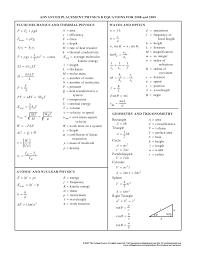 physics equations fluid mechanics thermal atomic nuclear geometry trigonometry