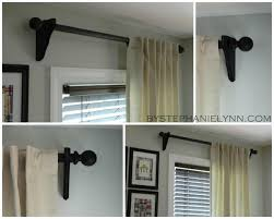 make your own wooden ball curtain rod set with brackets diy dry hardware