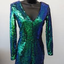 Haoduoyi Size Chart Nwt Haoduoyi Mermaid Sequin Romper Size S Nwt