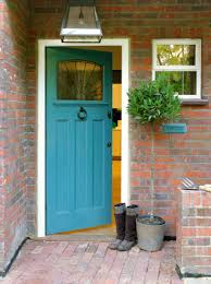 view in gallery bright blue painted front door