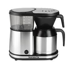 new 5 cup coffee brewer with stainless steel lined thermal carafe