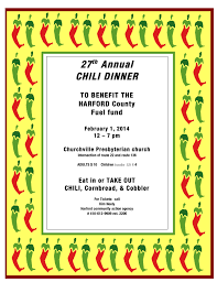 chili supper flyer things to do this weekend around bel air jan 30 feb 2 bel air