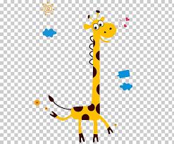 Giraffe Wall Decal Growth Chart Giraffe Png Clipart Free