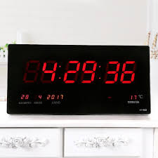 18 5 inches indoor digital led calendar wall clock with alarm