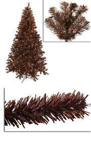 7' Pre-Lit Sparkling Chocolate Brown Artificial Christmas Tree - Clear  Lights