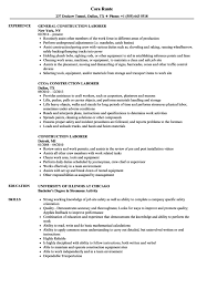 Laborer Resume Objective Examples Of Resumes General Picture Resume